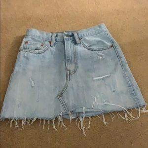 Levi's denim skirt!